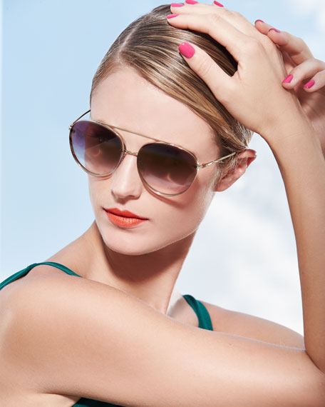 Mirrored Round Sunglasses