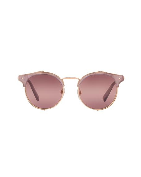 Round Metal Mesh Sunglasses