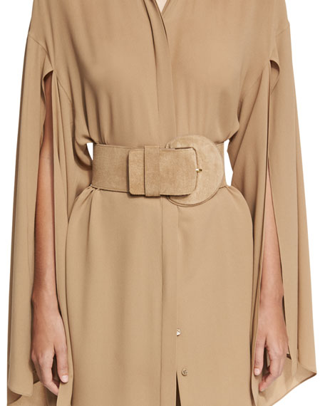 Michael Kors Collection Chino Suede Covered Buckle B