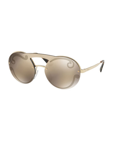 Embossed Round Sunglasses