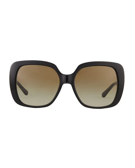 Rectangle Sunglasses w/ Transparent Arms