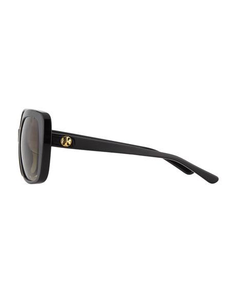 Rectangle Sunglasses w/ Transparent Arms