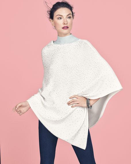 Studded Asymmetric Poncho, Plus Size