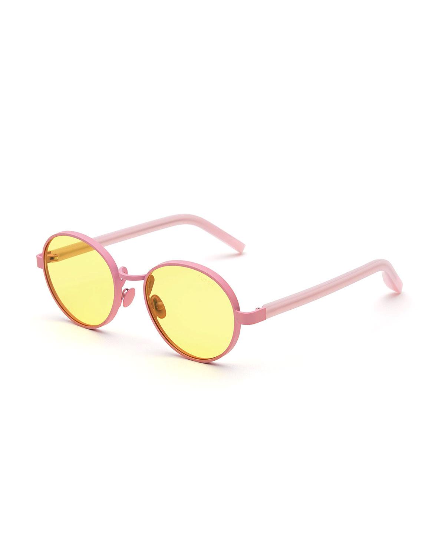 5c8163ba7cb Pink Designer Sunglasses Neiman Marcus. Gradient Pink Frameless Retro Cat  Eye Framed Sunglasses