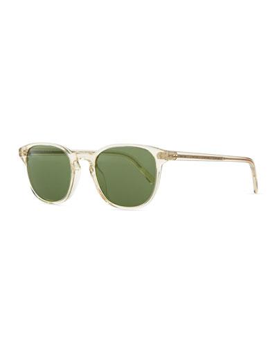 Fairmont Men's Acetate Sunglasses, Yellow