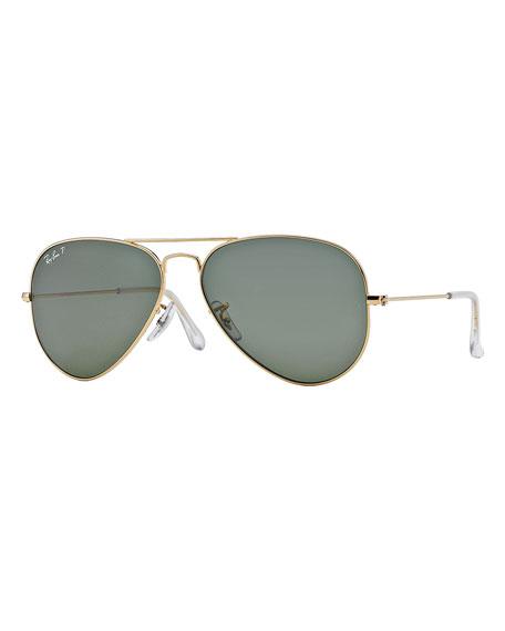 Ray-Ban Metal Polarized Aviator Sunglasses