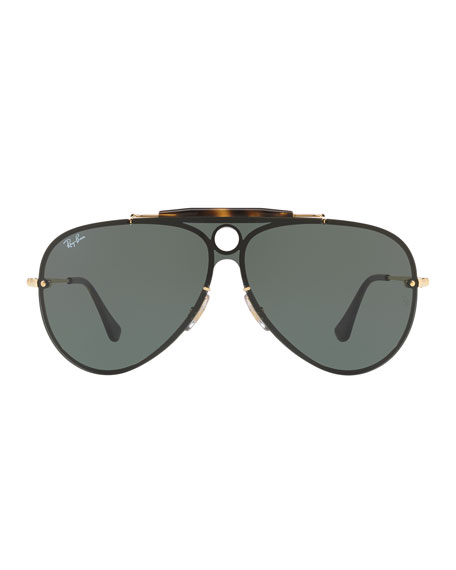 Blaze Shooter Flat Shield Sunglasses
