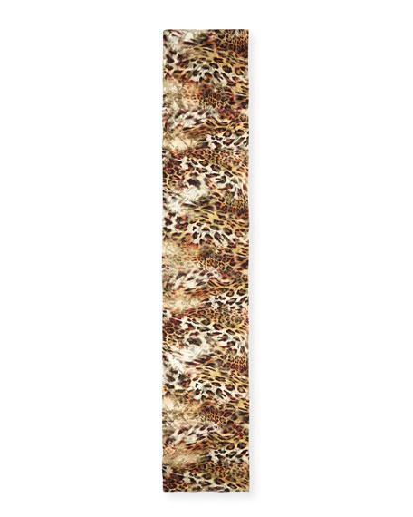 Leopard Devore Scarf