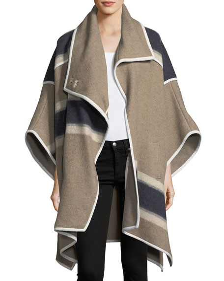 Wolfe Wool Blanket Cape