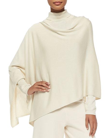 Joan Vass Silk/Cashmere Poncho, Silk-Cashmere Long-Sleeve