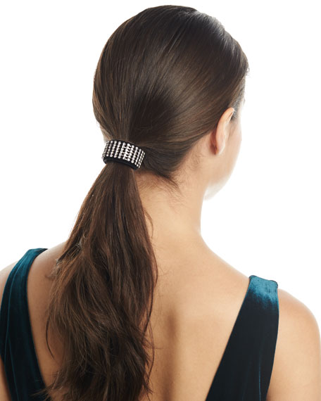 Jennifer Behr Crystal Velvet Ponytail Wrap