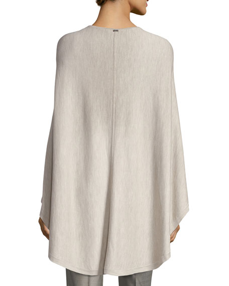Fine Gauge Wool Poncho