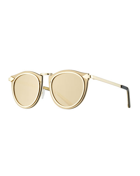 Karen Walker Superstars Solar Harvest Sunglasses, Yellow