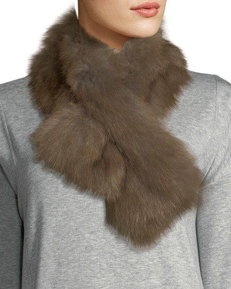 Adrienne Landau Fur Pull-Through Scarf