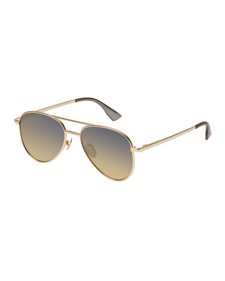 Le Specs Luxe Empire Gradient Aviator Sunglasses