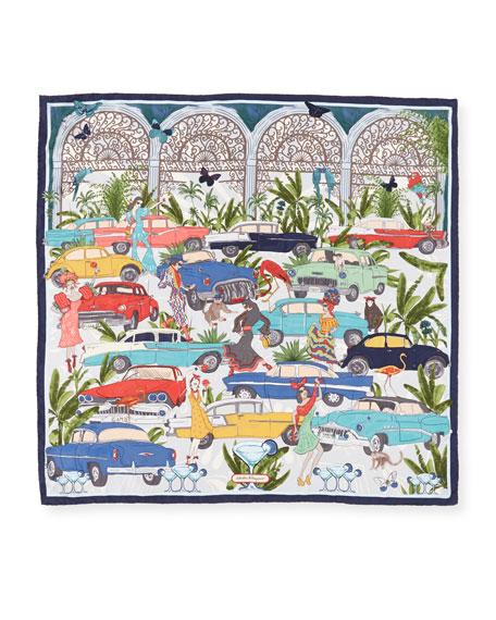 Emerson Havana Landscape Silk Scarf