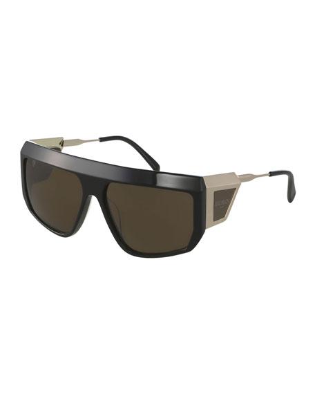 Balmain Wrap Shield Sunglasses