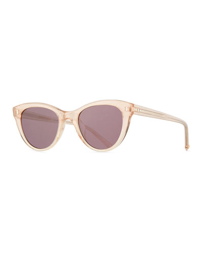 x Claire Vivier Cat-Eye Transparent Acetate Sunglasses