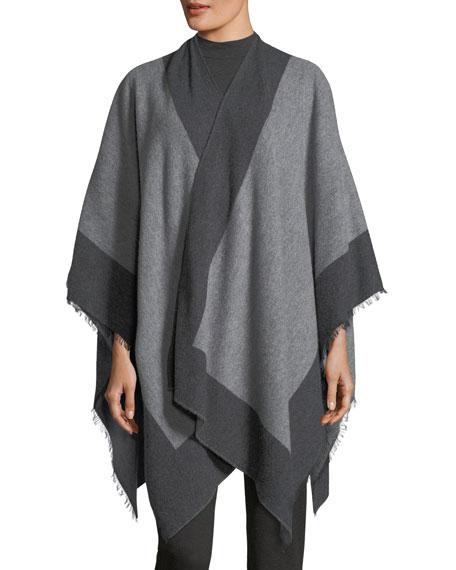 Colorblocked Bordered Wool Serape