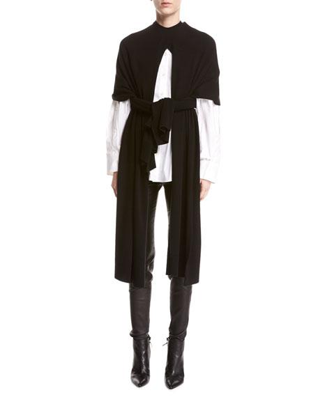 palmer//harding Split Wool-Cashmere Poncho