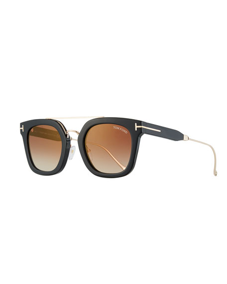 TOM FORD Alex Plastic & Metal Square Unisex