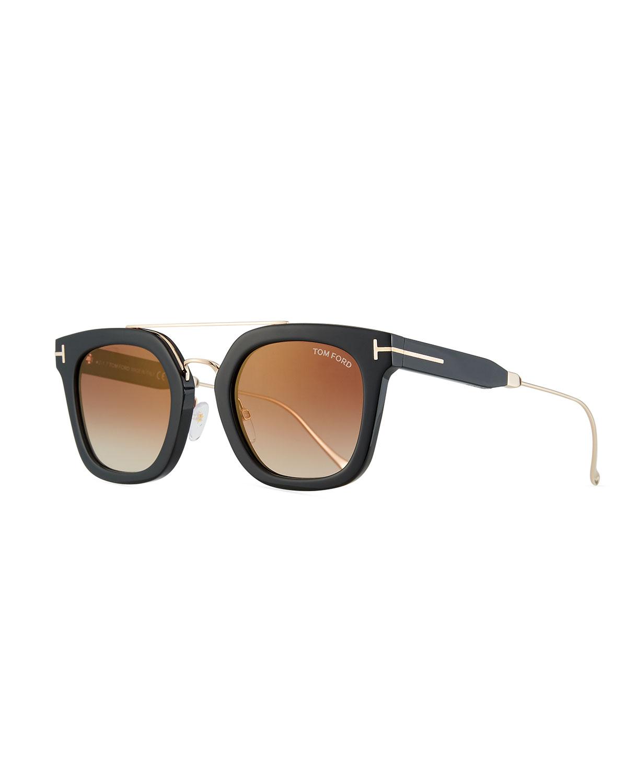 4d5faedaf87 TOM FORD Alex Plastic   Metal Square Unisex Sunglasses