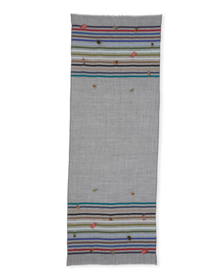 True Bugs Wool-Silk Scarf