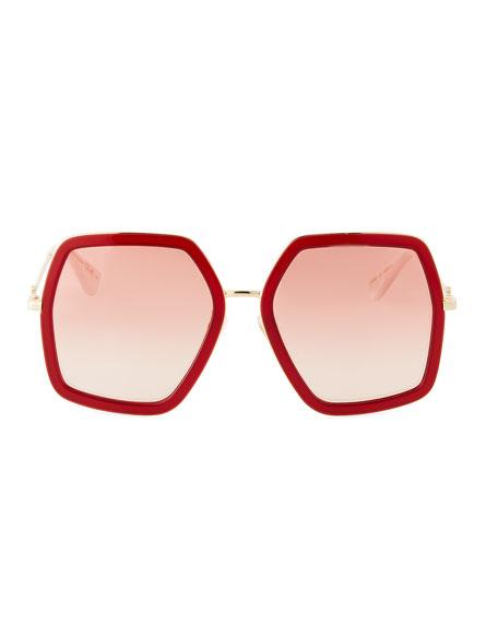 Oversized Square Web Sunglasses