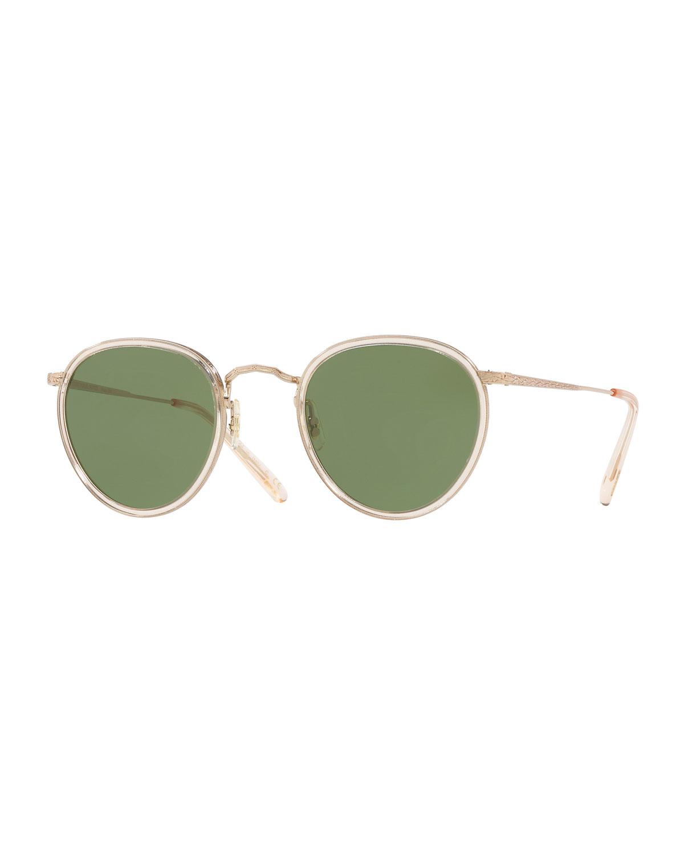 b4f5328e7e3 Oliver Peoples MP-2 Round Metal Sunglasses