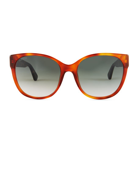 Gradient Oversized Cat-Eye Sunglasses