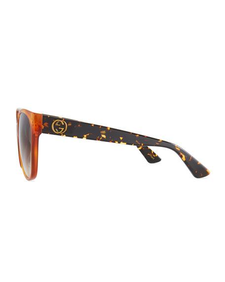 Gradient Oversized Cat-Eye Sunglasses