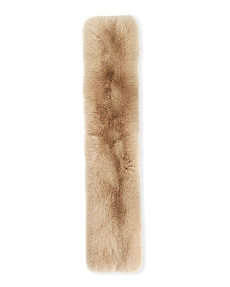 Mimosa Fur Pull-Through Scarf