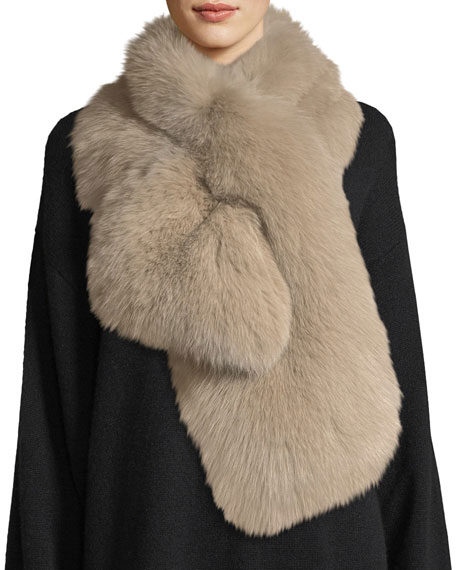 Il Borgo Mimosa Fur Pull-Through Scarf
