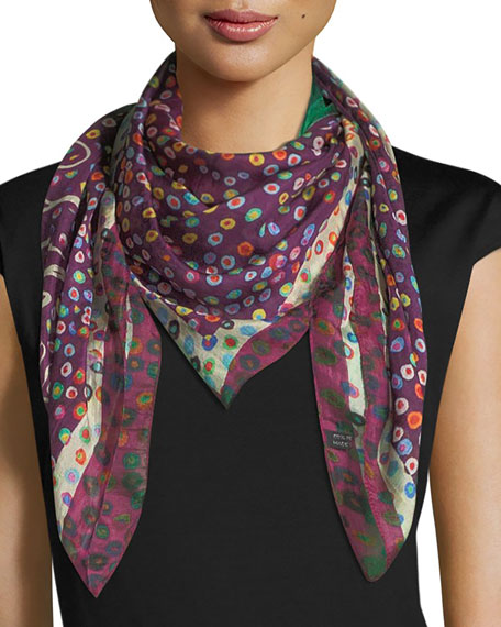 Mila & Such Birth Square Silk Scarf with