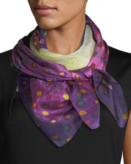 Float Square Silk Scarf, 100cm