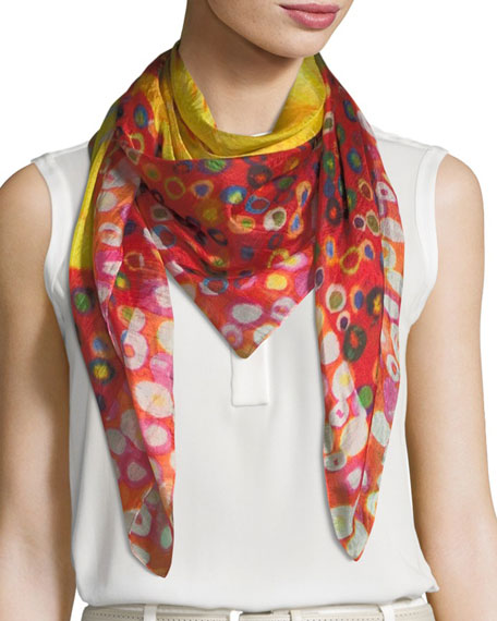Mila & Such Bend Square Silk Scarf, 100cm