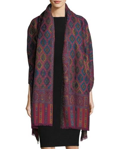 Cosmo Clover Wool Shawl, Multi