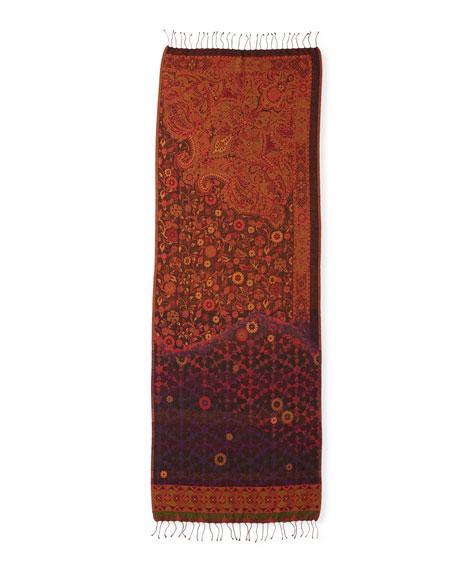Sabira Heavenly Honeysuckle Wool Scarf