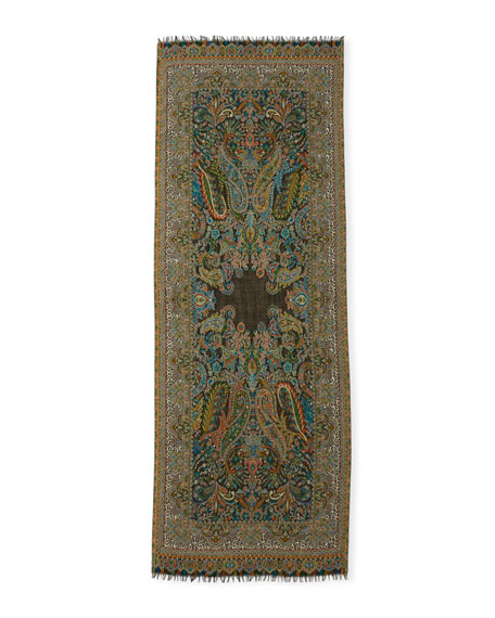 Games of Glory Wool Paisley Scarf