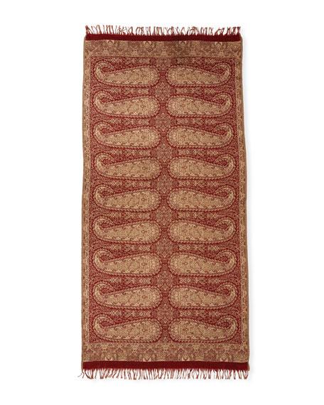Antiqued Paisley Wool-Silk Shawl