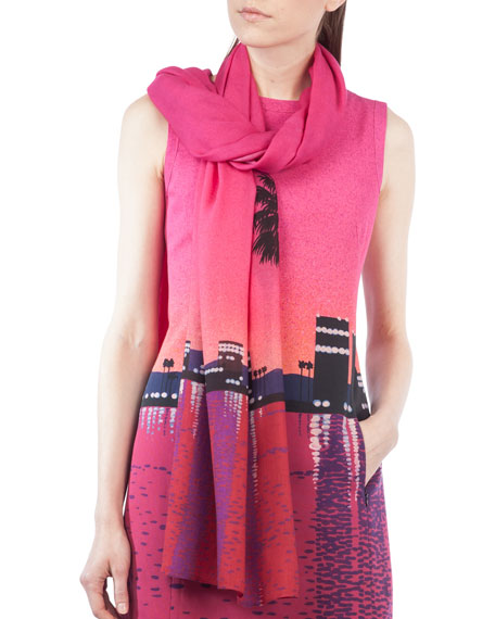 Akris punto Sunset-Print Scarf