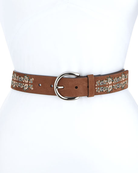 Rebecca Minkoff Selena Embroidered Belt