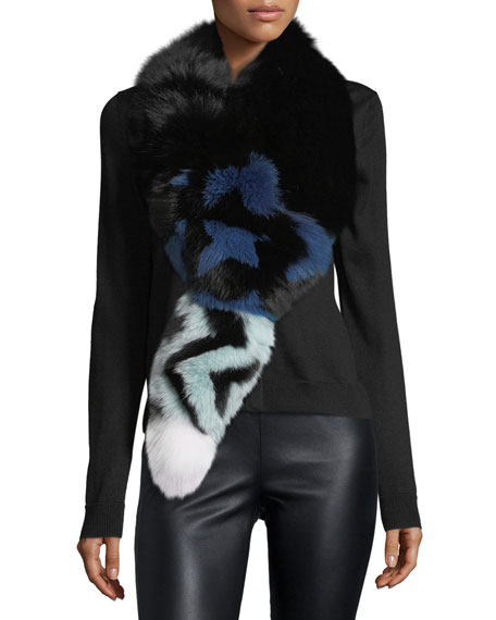 Fendi Fur Tail Scarf