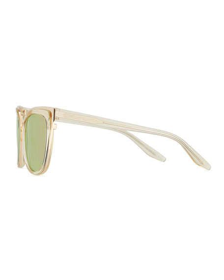 Winette Cat-Eye Sunglasses, Champagne Gold/Lavender