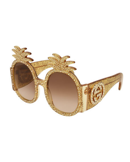 Gucci Crystal Pineapple GG Sunglasses