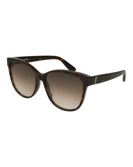 Cat-Eye Gradient Sunglasses, Brown