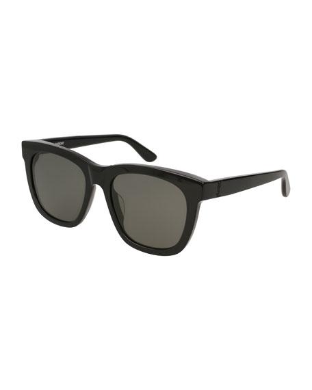 Saint Laurent Unisex Square Acetate Sunglasses, Black