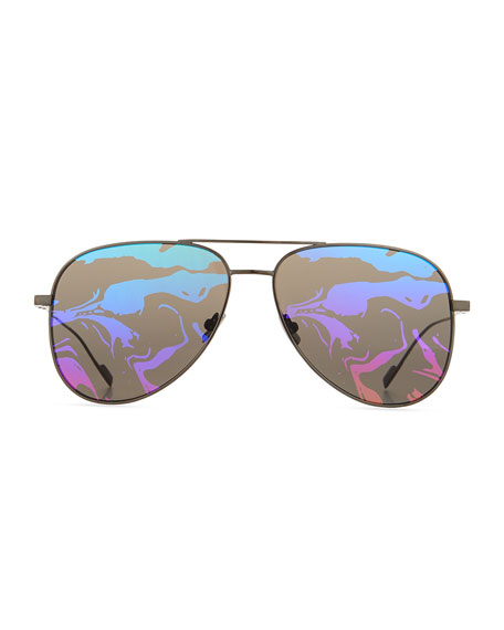 SL 193 Abstract-Lenses Aviator Sunglasses