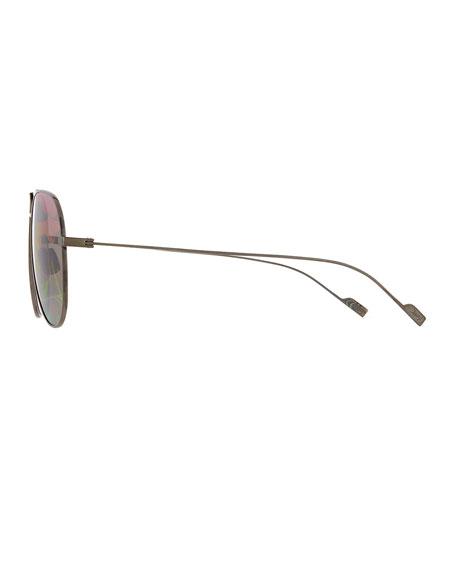 SL 193 Abstract-Lenses Aviator Sunglasses