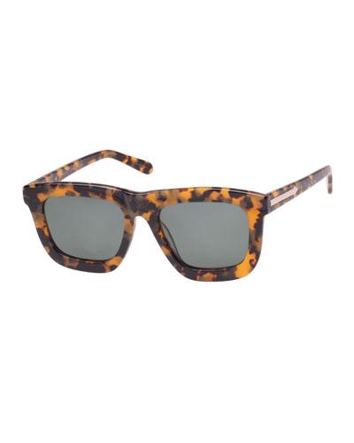 Deep Worship Square Monochromatic Sunglasses, Brown
